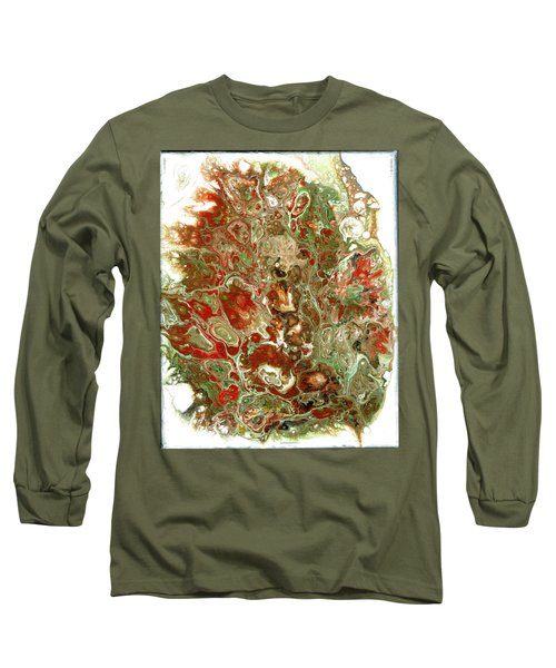 Acrylic Pour#6 On Canvas Long Sleeve T-Shirt