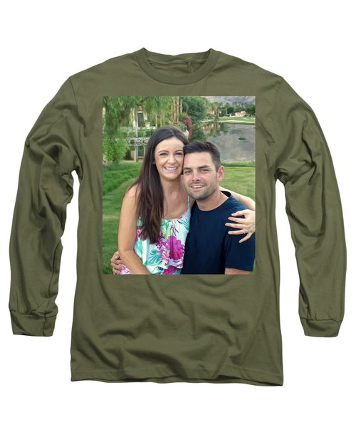 Long Sleeve T-Shirt featuring the painting Adam And Lys by Michael Pickett