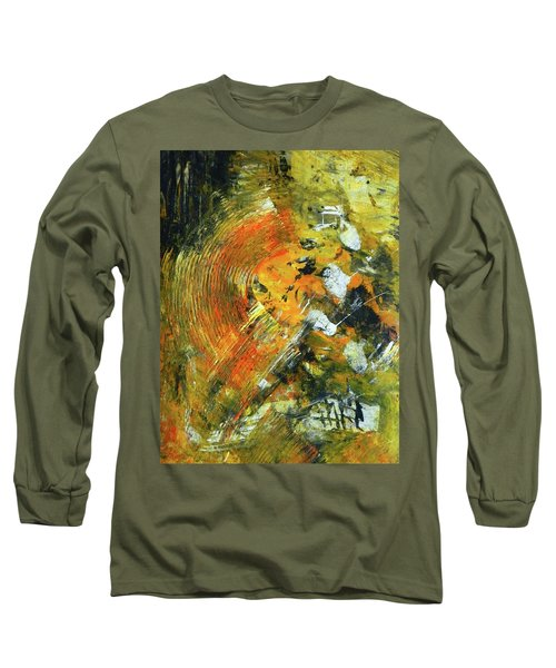 Long Sleeve T-Shirt featuring the painting Addicted To Chaos by Everette McMahan jr