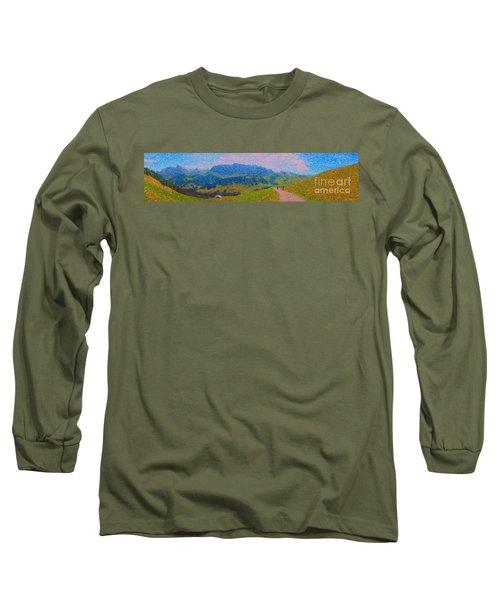 Adelboden Panoramic Long Sleeve T-Shirt by Gerhardt Isringhaus