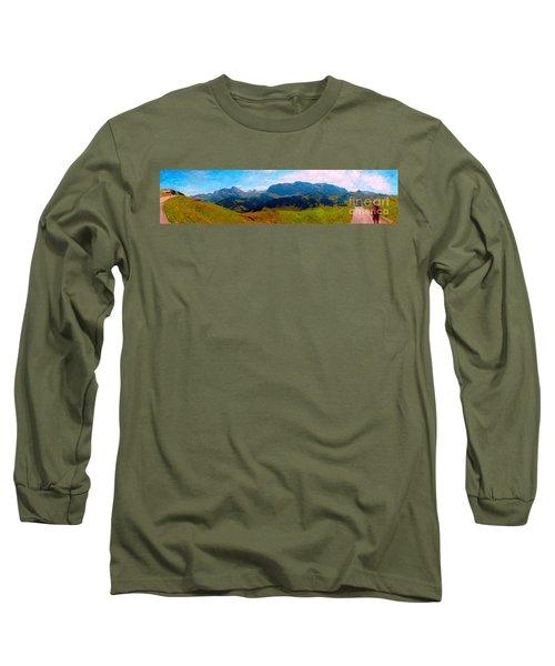 Adelboden With Hiker Long Sleeve T-Shirt