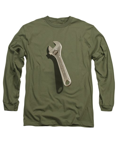 Adjustable Wrench Over Wood 72 Long Sleeve T-Shirt