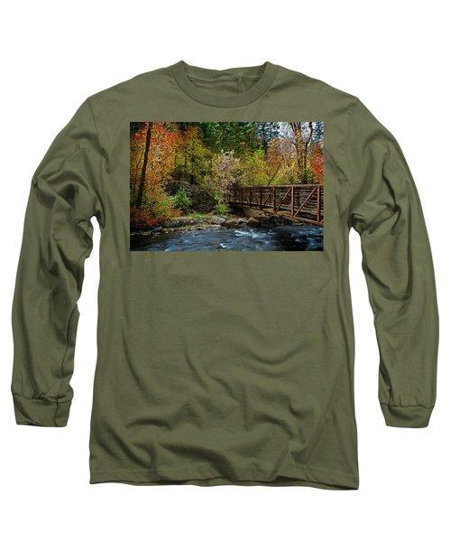 Long Sleeve T-Shirt featuring the photograph Adventure Bridge by Scott Read