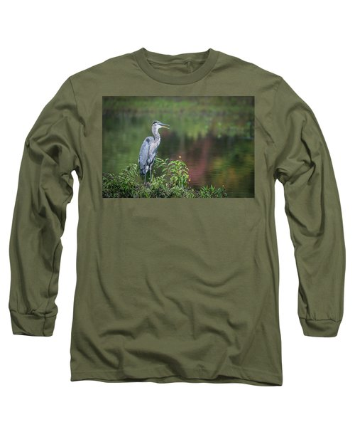 Advice From A Great Blue Heron Long Sleeve T-Shirt