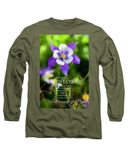 Advice From A Wildflower Columbine Long Sleeve T-Shirt by Teri Virbickis