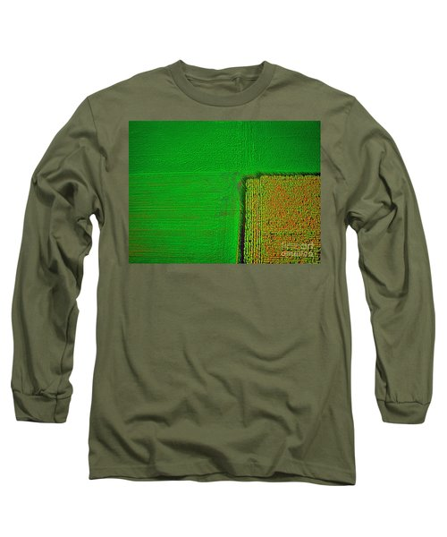 Aerial Farm Mchenry Il  Long Sleeve T-Shirt