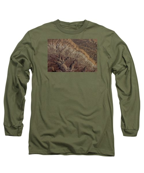 Aerial View Of Rock Formation Long Sleeve T-Shirt by Ivete Basso Photography