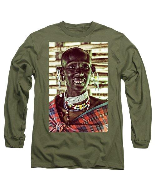 African Maasai Teacher Long Sleeve T-Shirt