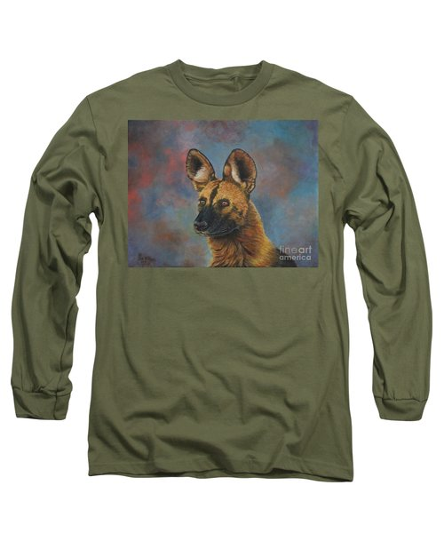 African Painted Wild Dog Long Sleeve T-Shirt