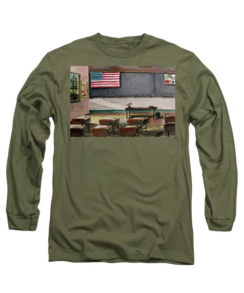 Long Sleeve T-Shirt featuring the painting After Class by John Williams