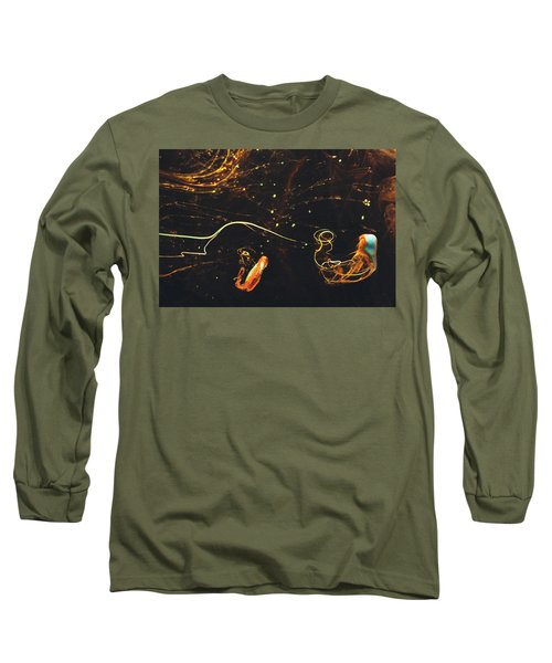 After Midnight - Abstract Photography - Paint Pouring Art Long Sleeve T-Shirt by Modern Art Prints