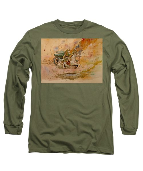 Long Sleeve T-Shirt featuring the painting After The Charge by Ray Agius
