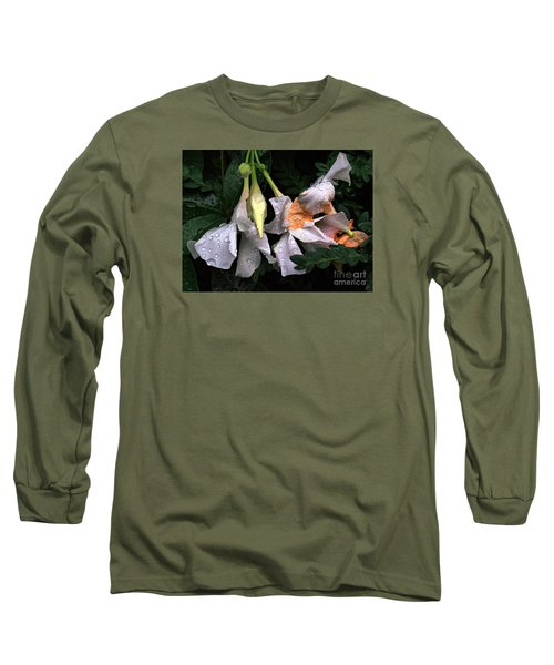 After The Rain - Flower Photography Long Sleeve T-Shirt