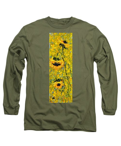 Long Sleeve T-Shirt featuring the painting After The Rain  Vi by Cristina Mihailescu