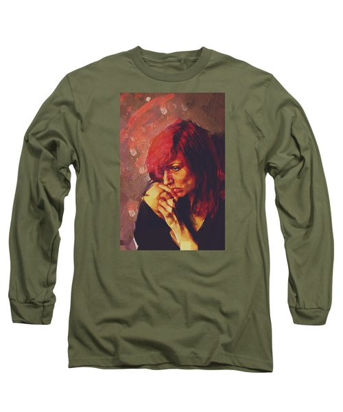Long Sleeve T-Shirt featuring the digital art Afterimage by Galen Valle