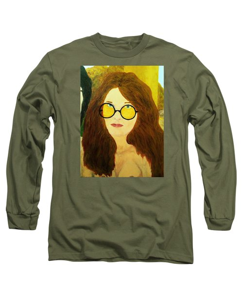Afterlife Concerto Janis Joplin Long Sleeve T-Shirt by Rand Swift