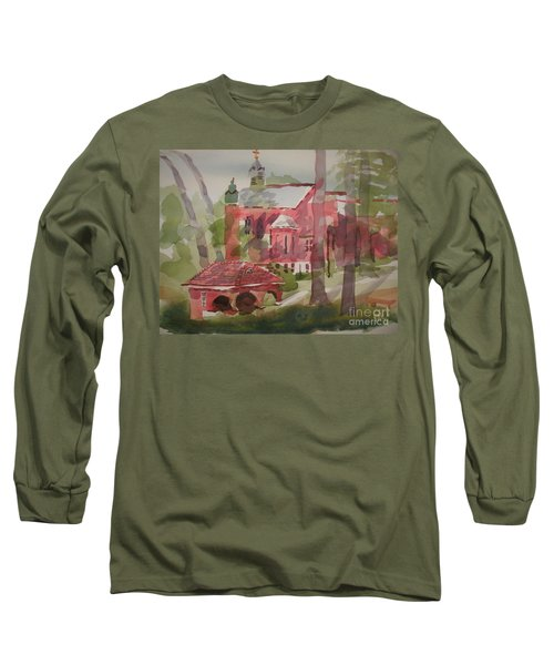 Long Sleeve T-Shirt featuring the painting Afternoon Shadows W403 by Kip DeVore