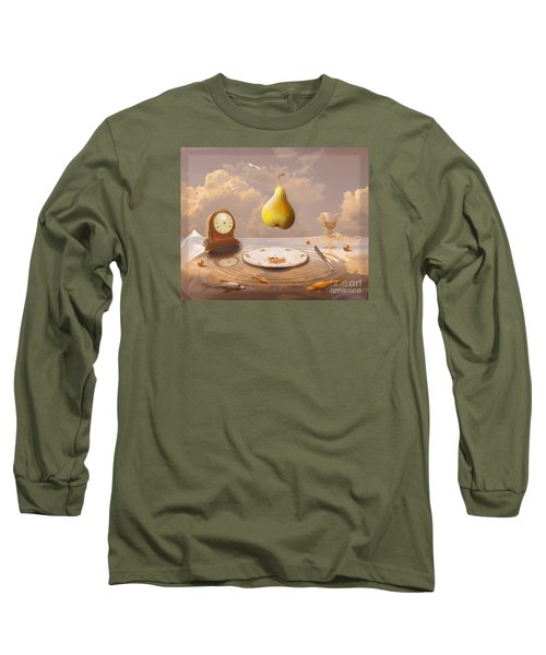 Long Sleeve T-Shirt featuring the drawing Afternoon Tea by Alexa Szlavics