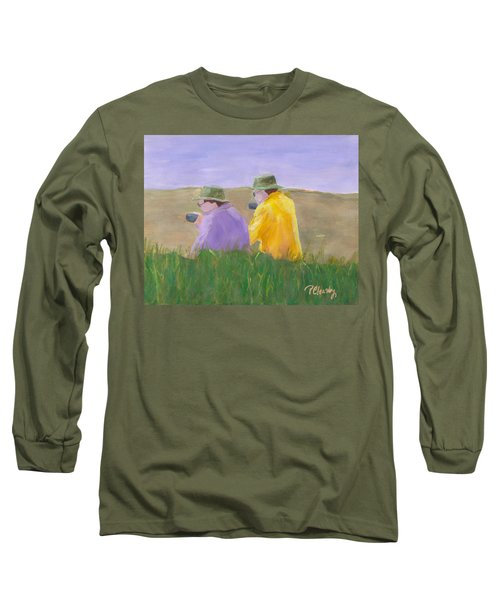 Afternoon Tea Long Sleeve T-Shirt by Patricia Cleasby