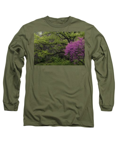 Long Sleeve T-Shirt featuring the photograph Afton Virginia Spring Red Bud by Kevin Blackburn