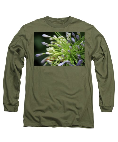 Long Sleeve T-Shirt featuring the photograph Agapanthus, The Spider Flower by Yoel Koskas