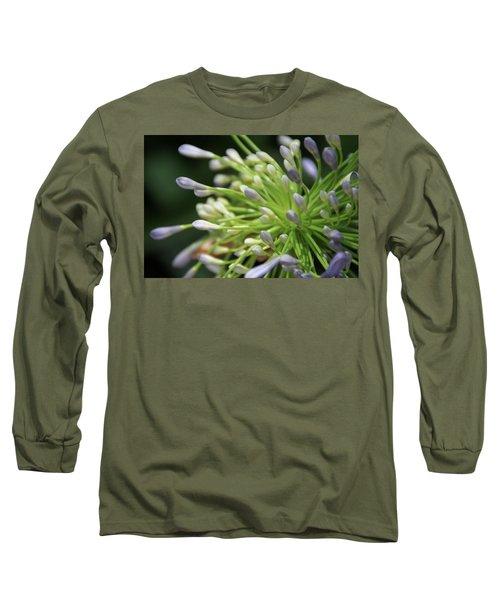 Agapanthus, The Spider Flower Long Sleeve T-Shirt by Yoel Koskas