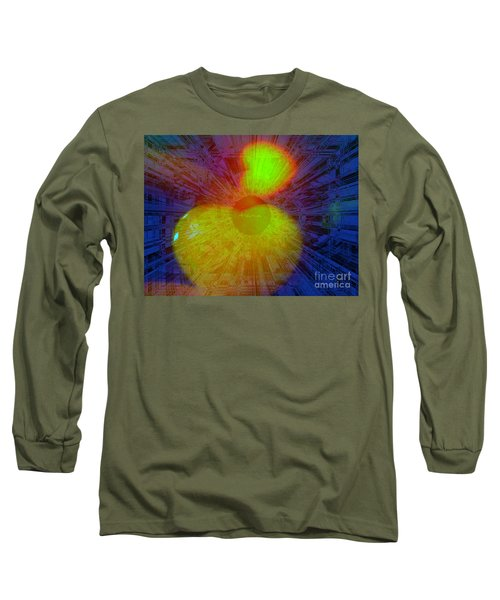 Long Sleeve T-Shirt featuring the mixed media Agape by Fania Simon