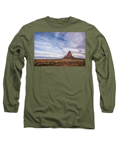 Long Sleeve T-Shirt featuring the photograph Agathla Wakes Up by Jon Glaser
