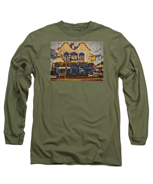 Long Sleeve T-Shirt featuring the digital art Ahh Bistro by Leigh Kemp