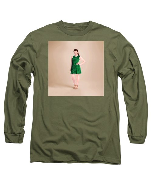Long Sleeve T-Shirt featuring the digital art Ainsley by Nancy Levan