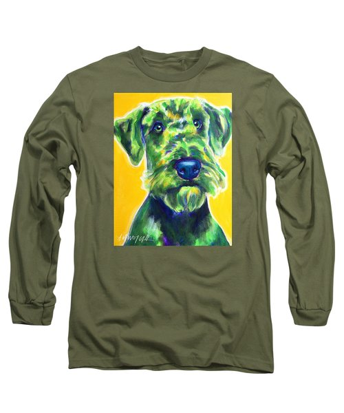 Airedale Terrier - Apple Green Long Sleeve T-Shirt