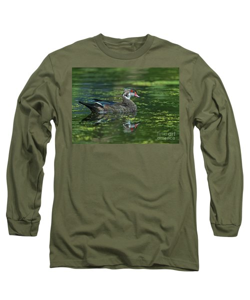 Long Sleeve T-Shirt featuring the photograph Aix Sponsa.. by Nina Stavlund