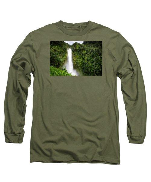 Long Sleeve T-Shirt featuring the photograph Akaka Falls by Ryan Manuel