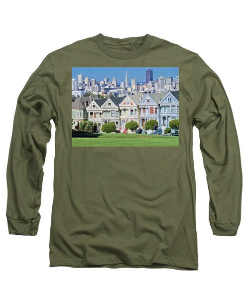 Alamo Square Long Sleeve T-Shirt by Matthew Bamberg