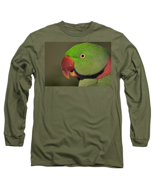 Long Sleeve T-Shirt featuring the photograph Alexandrine Parakeet by JT Lewis