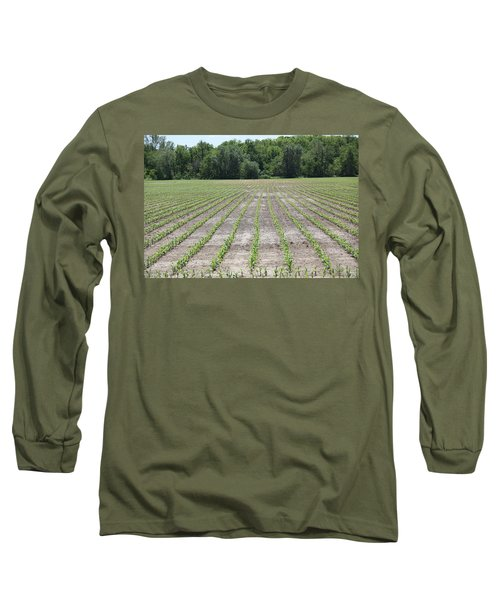 Alien  Crop Lines Long Sleeve T-Shirt