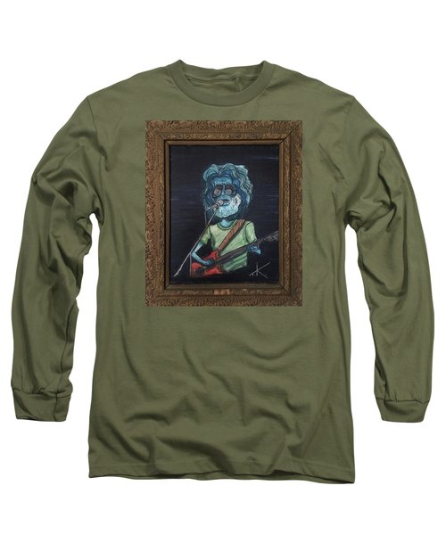 Long Sleeve T-Shirt featuring the painting Alien Jerry Garcia by Similar Alien
