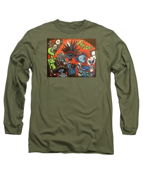 Aliens With Nefarious Intent Long Sleeve T-Shirt by Similar Alien