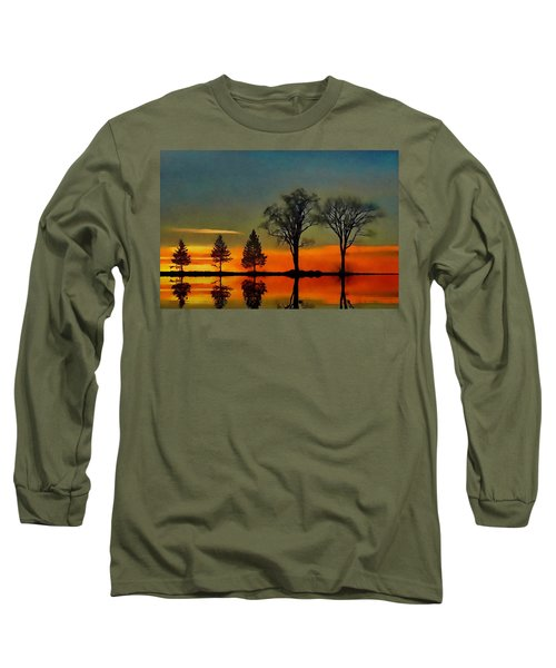 All In A Row  Long Sleeve T-Shirt by Andrea Kollo