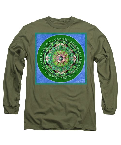 All Is Well Mandala Prayer Long Sleeve T-Shirt