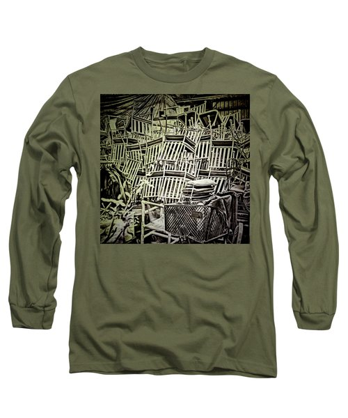 Long Sleeve T-Shirt featuring the photograph All Piled Up by Lewis Mann