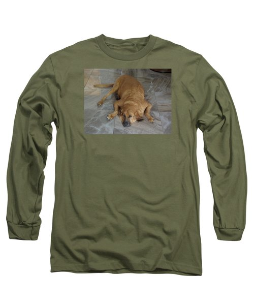All Pooped Out Long Sleeve T-Shirt by Val Oconnor