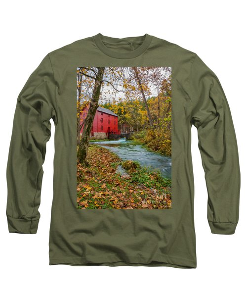 Alley Mill In Autumn Long Sleeve T-Shirt by Jennifer White