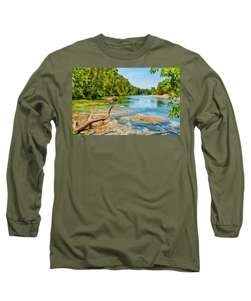 Long Sleeve T-Shirt featuring the photograph Alley Springs Scenic Bend by John M Bailey