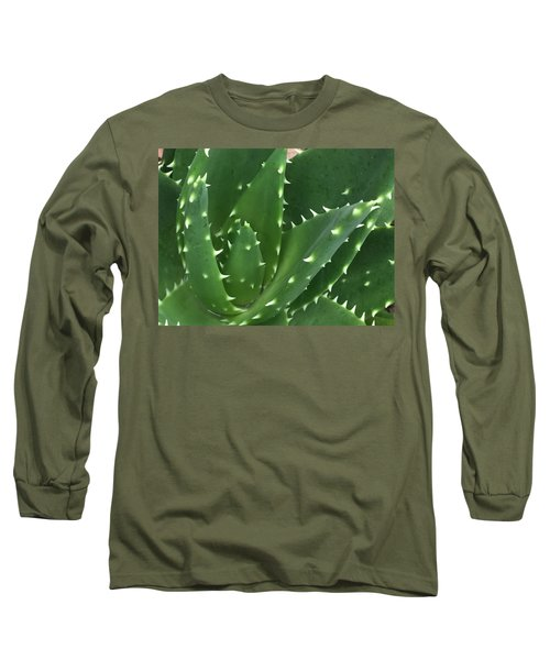 Aloe-icious Long Sleeve T-Shirt by Russell Keating