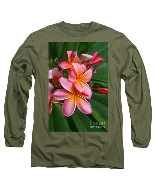 Aloha Lei Pua Melia Keanae Long Sleeve T-Shirt by Sharon Mau