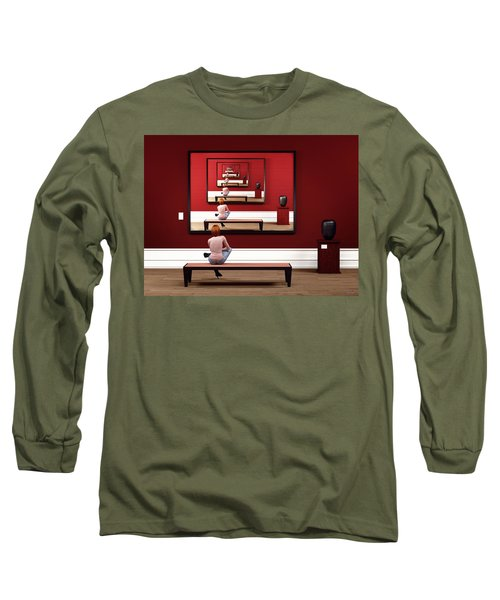 Long Sleeve T-Shirt featuring the digital art Alone In My Gallery by Shinji K