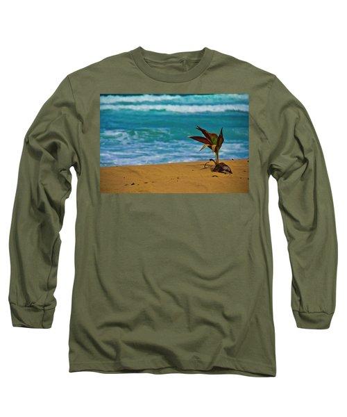 Alone On The Beach Long Sleeve T-Shirt