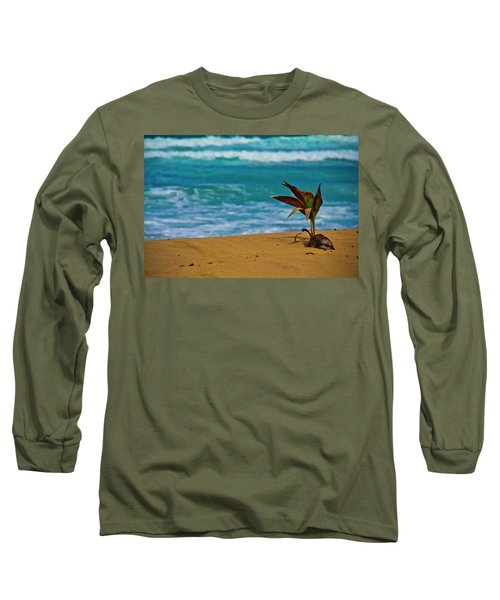 Alone On The Beach Long Sleeve T-Shirt