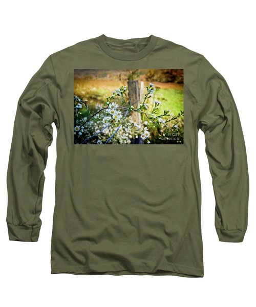 Long Sleeve T-Shirt featuring the photograph Along A Fence Row by Douglas Stucky
